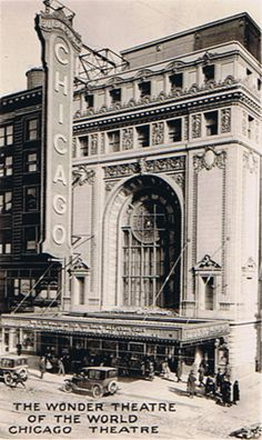 Vintage Chicago Theater (before changes to the marquee)