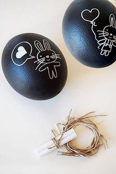 Ovos de Páscoa decorados com coelhos amorosos | Eu Decoro