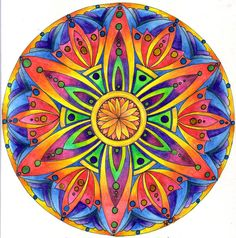 Mandala by Artwyrd on DeviantArt Mandala Art, Lotus Mandala, Flower Mandala, Mandala Design, Sun Painting, Mandalas Painting, Mandalas Drawing, Hamsa Art, Art Simple