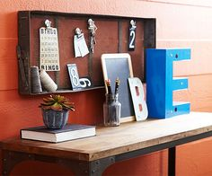 Write a new tale for a flea find by turning unusual items into practical decor.