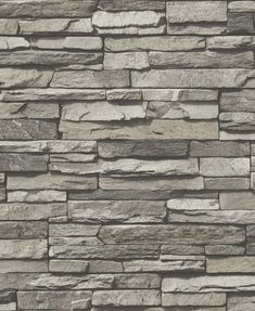 A Modern Brick/slate Effect Wallpaper Made Up Of Various Bricks Neatly  Stacked To Give