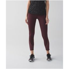 lululemon All Meshed Up 7/8 Tight ($98) ❤ liked on Polyvore featuring activewear, activewear pants and lululemon