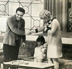 1965 - Mônica e Maurício Sousa no programa dá Hebe Camargo