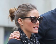 a83b132bc79 Olivia Palermo in Tom Ford Anouk Cat Eye Sunglasses and Carrying Zara  Shopper Bag