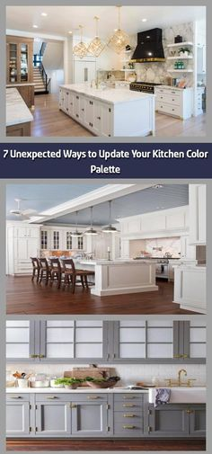 We hope you like the products we recommend. Just so you are aware, Freshome may collect a share of sales from the links on this page. After our long-term love Kitchen Color Palettes, Kitchen Colors, White Kitchens, Modern Farmhouse Kitchens, Updated Kitchen, New Kitchen, Neutral Kitchen, Kitchen Linens, Kitchen Cabinetry