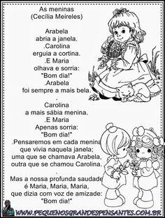Poesia As Meninas - Cecília Meireles