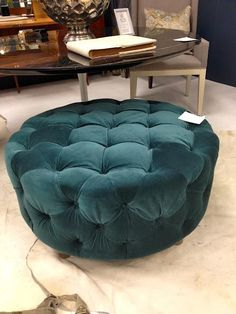 Turn a rubber tire into an ottoman...awesome DIY