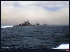 Heavy Cruiser, Imperial Japanese Navy, Colorized Photos, Battleship, Historical Photos, Sailing Ships, Wwii, Monochrome, Military