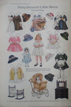 Betty Bonnet's Little Niece Uncut Paper Dolls Antique 1916 Ladies Home Journal | eBay