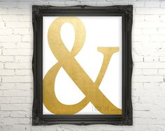 Ampersand Print Instant Download Faux Gold by emoorestoredesign