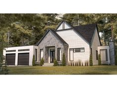 027H-0519: Small Contemporary House Plan; 3 Bedrooms, 2 Baths Small Contemporary House Plans, Pantry Interior, Duplex House Plans, Construction Drawings, Kitchen Views, Family House Plans, Building Department, Unique Architecture, Walk In Pantry