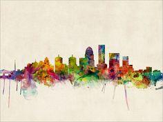 Louisville Kentucky Skyline Art Print 501 by artPause on Etsy