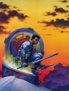 DON MAITZ - art for The Sunset Warrior by Eric Van Lustbader - 1989 Fawcett Crest