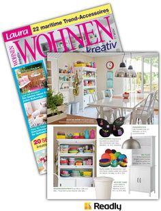 Vorschlag zu Laura WOHNEN Kreativ NR.05 2016 Seite 18 Trends, Magazines, Creative, Homes, Beauty Trends