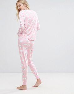 b22691553d Chelsea Peers Rainbow Unicorn Long Pajama set - Pink Rainbow Unicorn