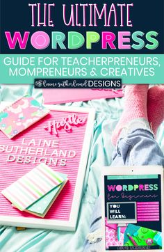 WordPress For Beginners eBook Wordpress Guide, Google Analytics, Custom Fonts, Planner Pages, Search Engine Optimization, Seo, How To Start A Blog, Blogging, Branding