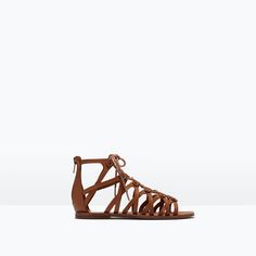Image 1 of LEATHER SANDAL from Zara