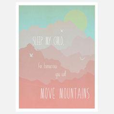Move Mountains Print Pink