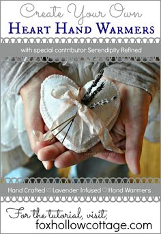 Lavender Infused Heart Hand Warmer Tutorial. #diy #Valentine's #gift
