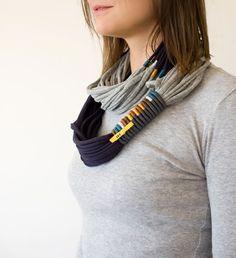 Tshirt necklace/scarf