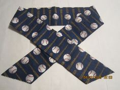 "Extra Wide 3"" Reusable Non-Toxic Cool Wrap / Neck Cooler  - Kids Prints - Baseball - Bats & Balls on Navy by ShawnasSpecialties on Etsy"