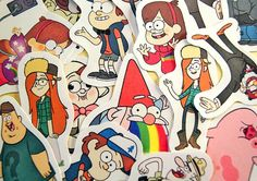Gravity Falls sticker pack by Stickerama on Etsy