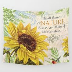#yellow #sunflowers #nature #watercolor #colorful #flowers #floral #woman #girly #pretty #shabby #spring #summer available in different #homedecor products. Check more at society6.com/julianarw #walltapestry #walldecor #bedspread