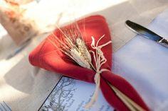 serviettes décorées en épis de blé: idée chic