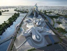 O Centro Internacional de Cultura e Arte Changsha Meixihu é uma construção espetacular. Possui diversos ambientes e espaços, com destaque para o Museu de A