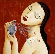 Morou naquele bordel encantado. Viu camas tremerem, mil homens passarem, mas era ele, somente ele que escutava pensamentos, que via olhos brilharem, escorrerem, que soprava felicidade ou conforto. http://flutu-ando.blogspot.com.br/2012/05/o-vidro-de-perfume-mito.html