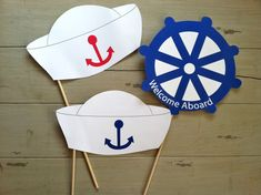 Anchors Away Nautical Sailor's Photo Booth Party Props on Etsy, $9.50