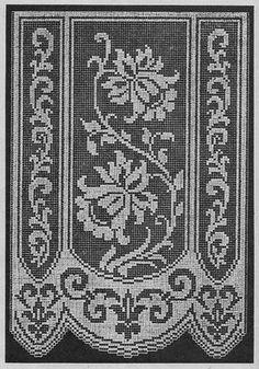 Crochet Tablecloth Pattern, Crochet Curtains, Crochet Doilies, Cross Stitch Embroidery, Cross Stitch Patterns, Cross Stitch Borders, Crochet Needles, Crochet Stitches, Doily Patterns