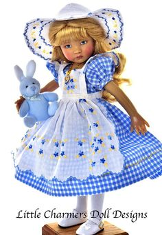 Dress for Effner 13, Little Darling. 5 pieces. * Little Charmers Doll Designs