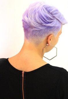 De 11 mooiste korte kapsels die wij tegen kwamen in mooie paarse kleuren…