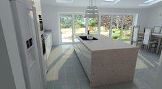Modern Kitchen Design. Schuller German Kitchen In Uni Gloss.  #germankitchens #