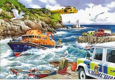 Puzzle Rescue - RNLI The House of Puzzles 1000 pieces from Large choice of Jigsaw Puzzles - Boats. Scenery Pictures, Hidden Pictures, Art Pictures, Free Jigsaw Puzzles, 1000 Piece Jigsaw Puzzles, Discussion Images, Nostalgic Art, Puzzle Art, Free Puzzle