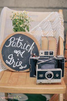 Part of Welcome Area for Patrick and Iris' Rustic Wedding Wedding Events, Weddings, Chalkboard Wedding, Event Styling, Iris, Rustic Wedding, Wedding, Marriage, Bearded Iris
