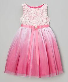 Another great find on #zulily! Fuchsia Heart Sash Dress - Toddler & Girls #zulilyfinds