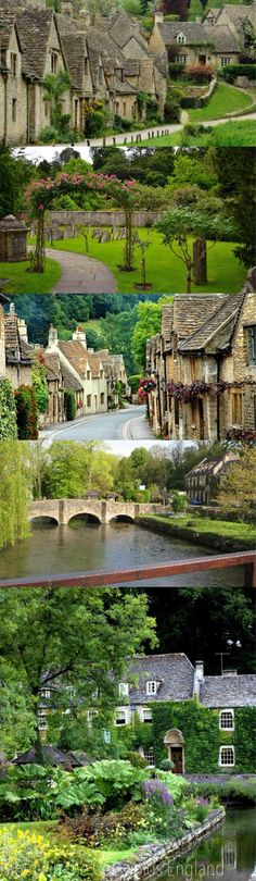 Bibury in the Cotswolds England