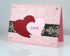 Valentine's Day Handmade Card, Blank Inside