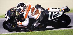 Chris Carr on the Harley VR1000. A great painting by Jeff Taylor
