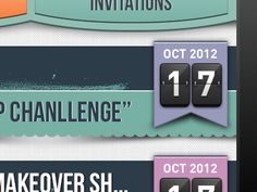 Nice date ribbon layout found on Dribbble.