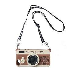 Retro Camera Style Silicone Case With Strap For IPhone Cool Iphone Cases, 5s Cases, Iphone Accessories, Fashion Accessories, Hat World, Duffy The Disney Bear, Tokyo Disney Sea, Retro Camera, Retro Color