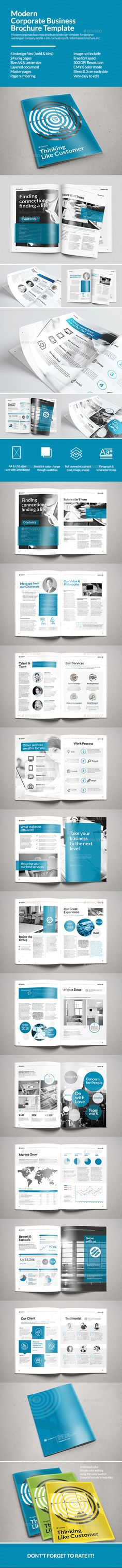Corporate Business Brochure — InDesign INDD #template #professional • Available here → https://graphicriver.net/item/corporate-business-brochure/10863243?ref=pxcr