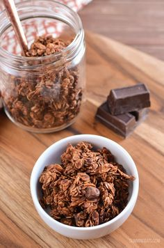 Slimming Eats Low Syn Chocolate Granola - gluten free, vegetarian, Slimming World and Weight Watchers friendly