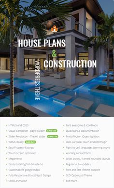 PLANIFY - Offers multiple house plan layouts - See http://themeforest.net/item/home-planify-wordpress-real-estate-theme/12775980?ref=surfarama