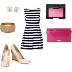 Navy and Pink, created by kmullins on Polyvore