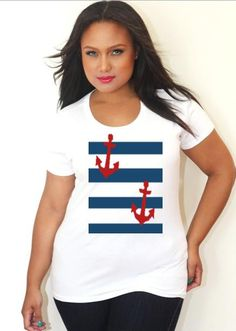 Anchor TShirt. Comes in Every Size! Love it <3