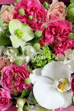 春のBOX ARRANGEMENT! Four Seasons Flower 東京・世田谷区・二子玉川・自由が丘・等々力・上野毛エリアのフラワーアレンジメント教室フォーシーズンズフラワー