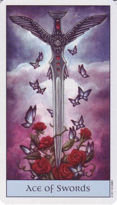 Card of the Day: Ace of Swords, Crystal Visions Tarot by Jennifer ...